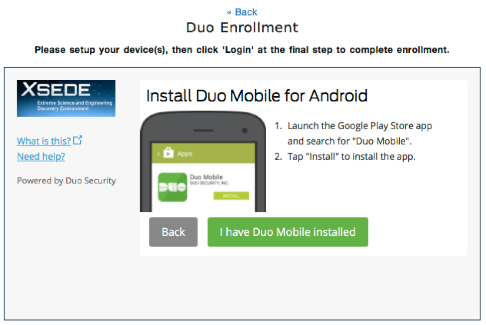 XSEDE User Portal | Multi-Factor Authentication with Duo