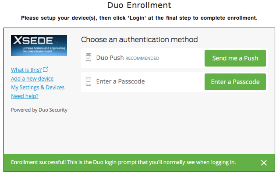 XSEDE User Portal   Multi-Factor Authentication with Duo
